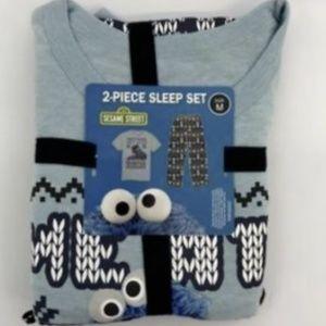 Men's 2 Piece Cookie Monster Pajamas